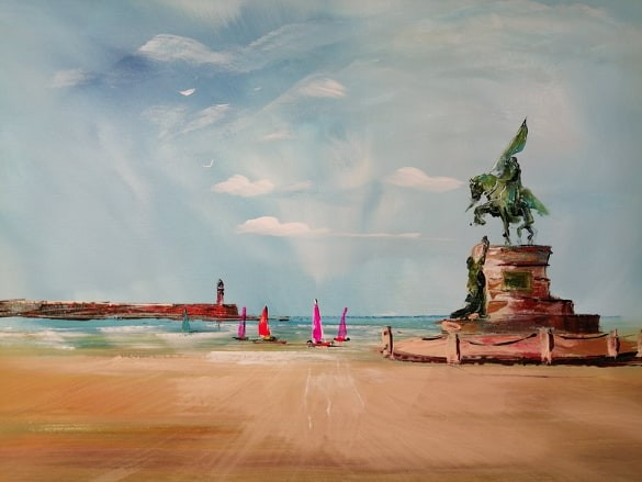 La plage de Boulogne déconfinée ! le Général SAN MARTIN veille sur vous !
