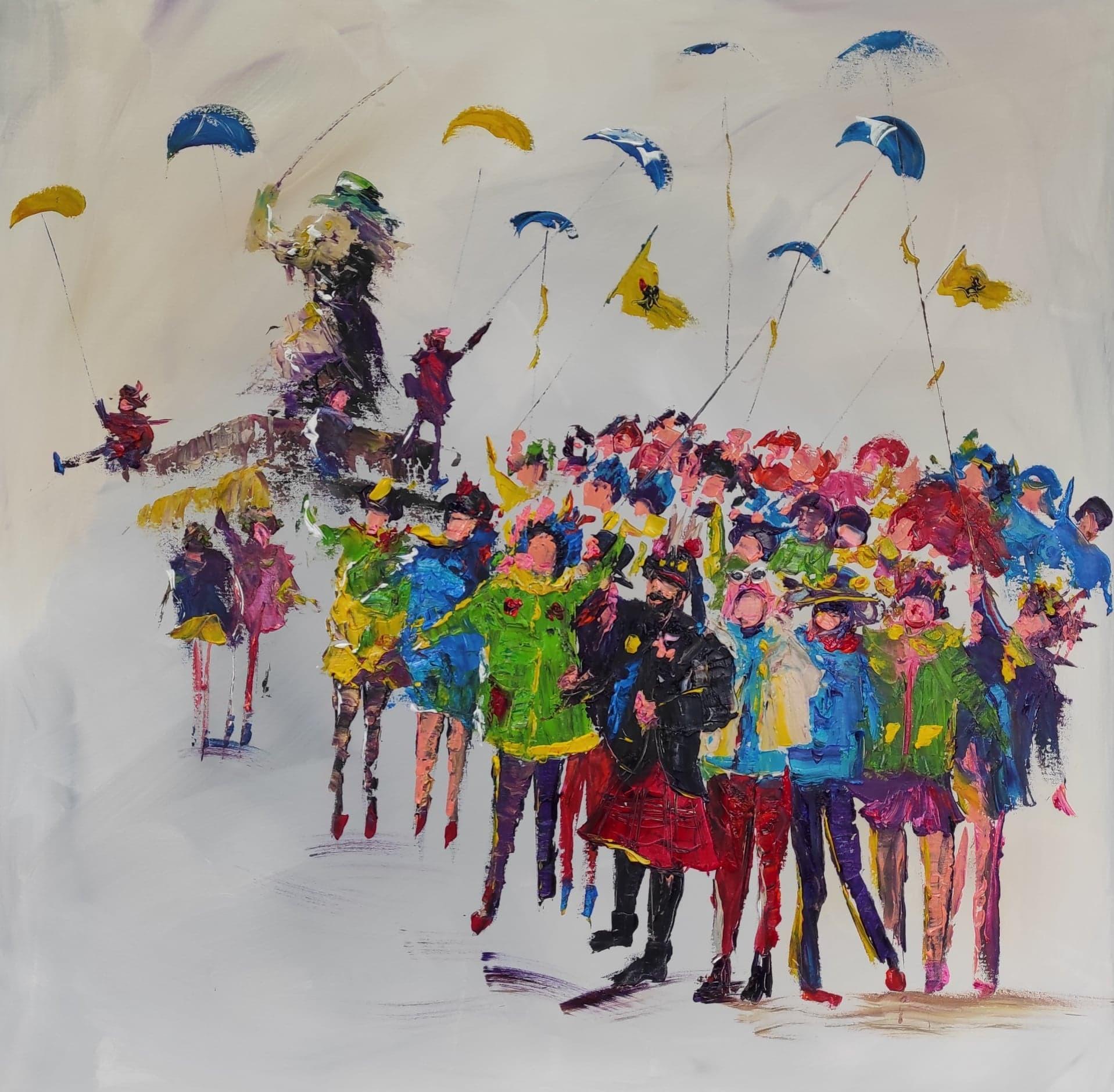 Carnaval de dunkerque 1m x 1m