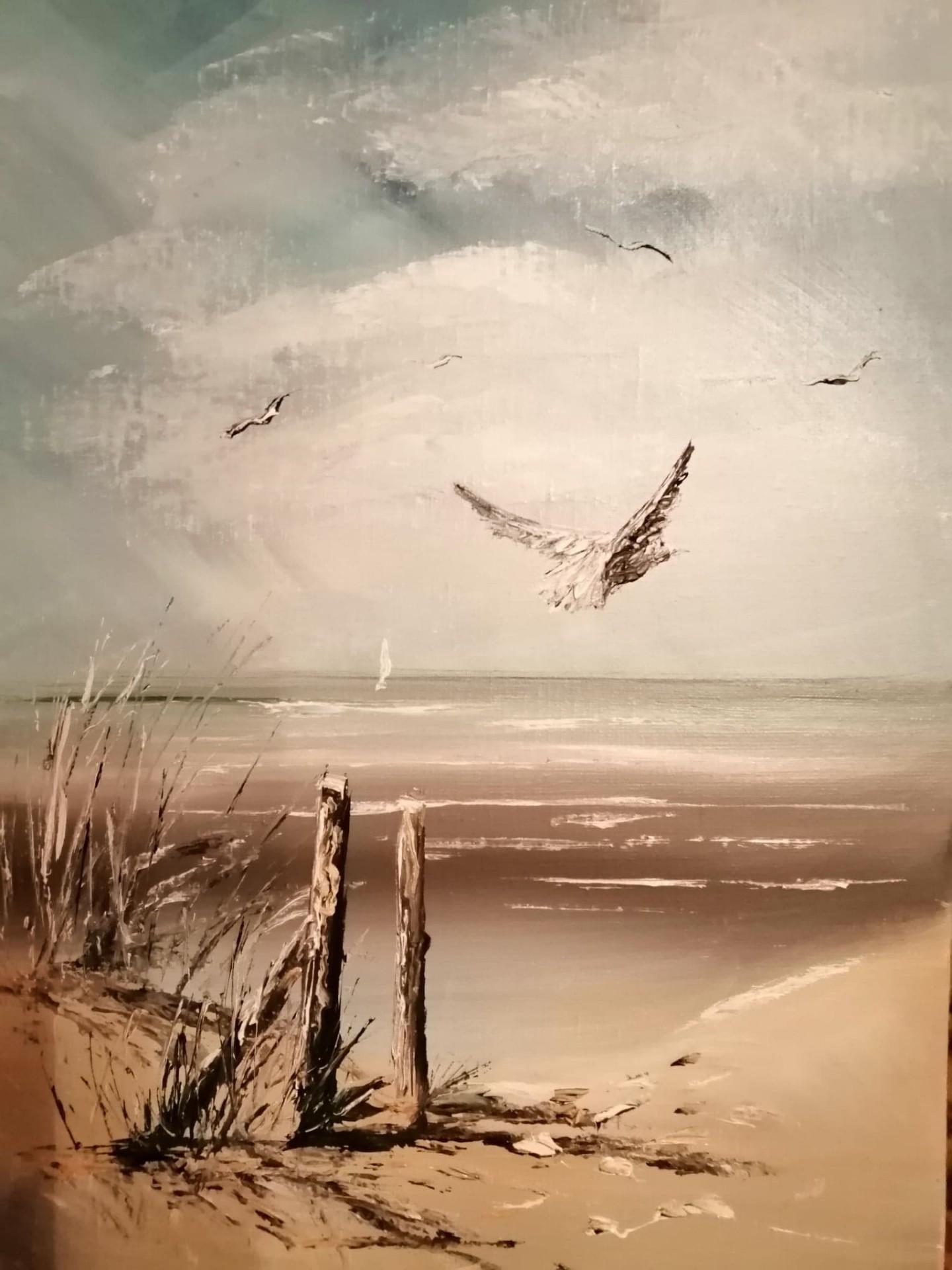 En bordure de plage 33 x 46 cm