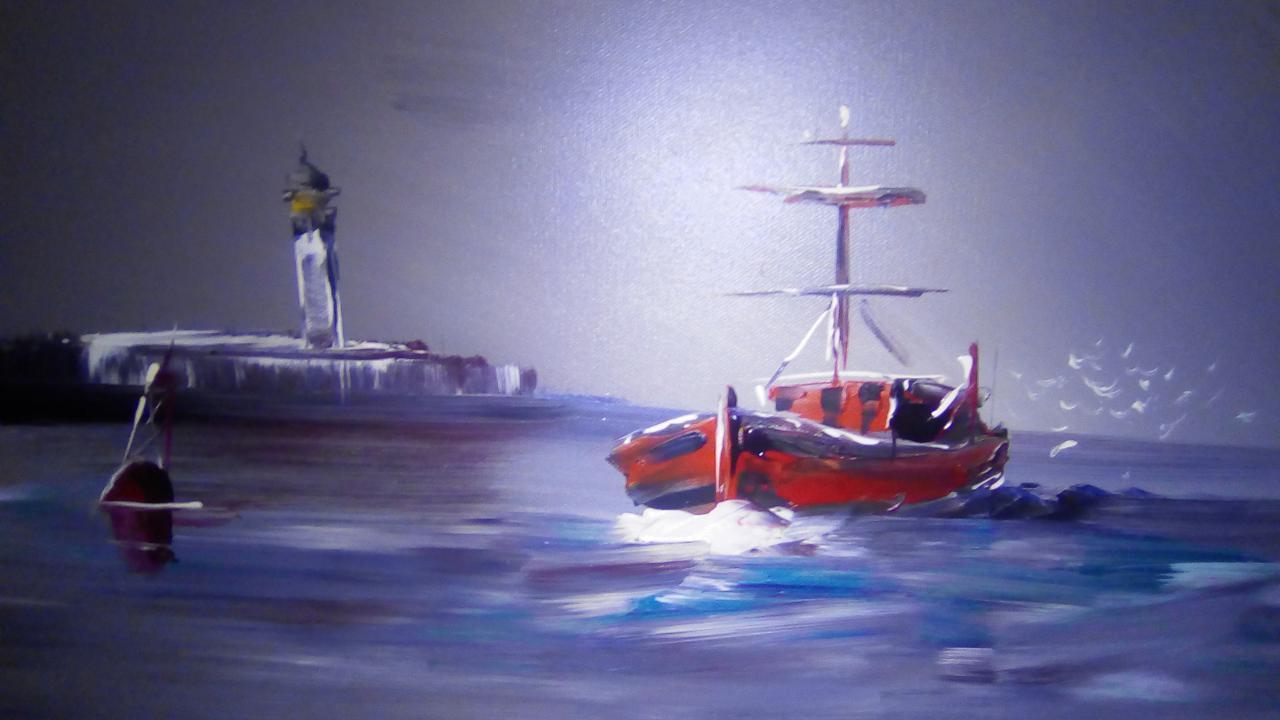 rentrée des pêcheurs dans le port de BOULOGNE SUR MER