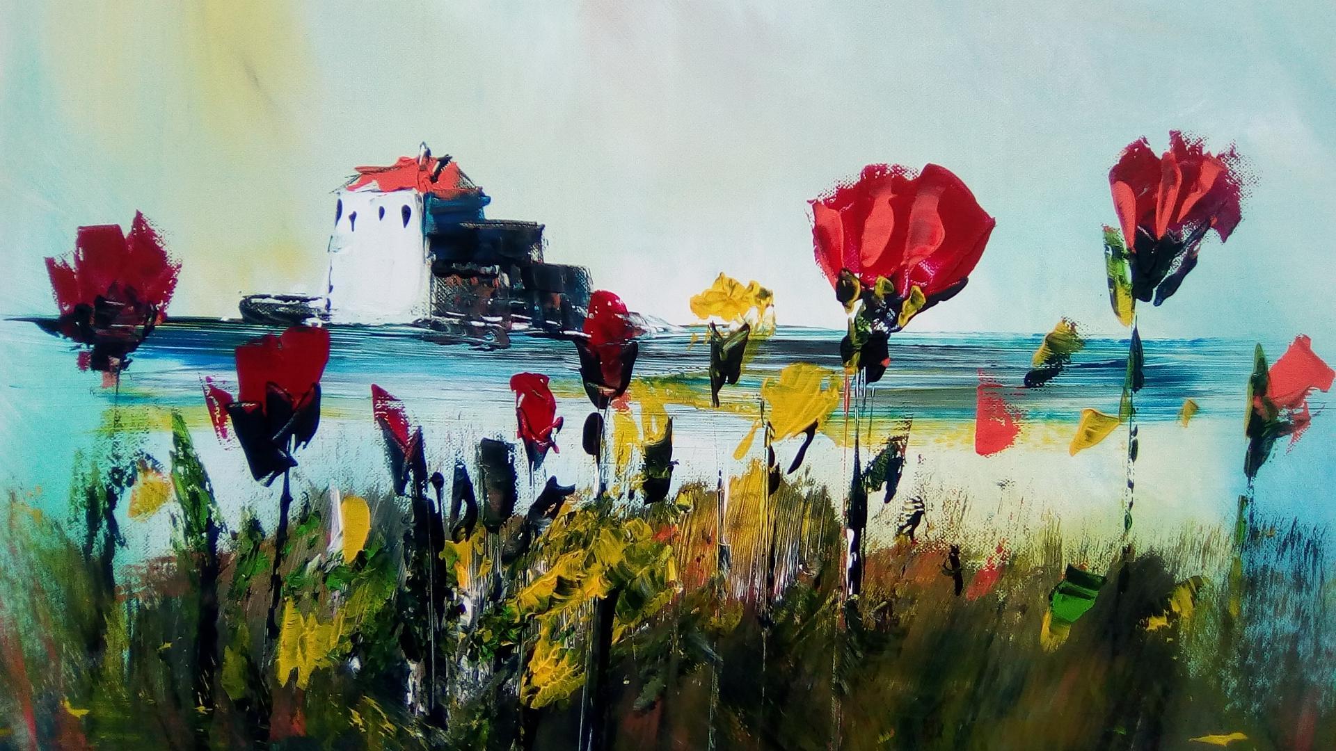 Une balade sur la côte d'Opâle au printemps avec les coquelicots
