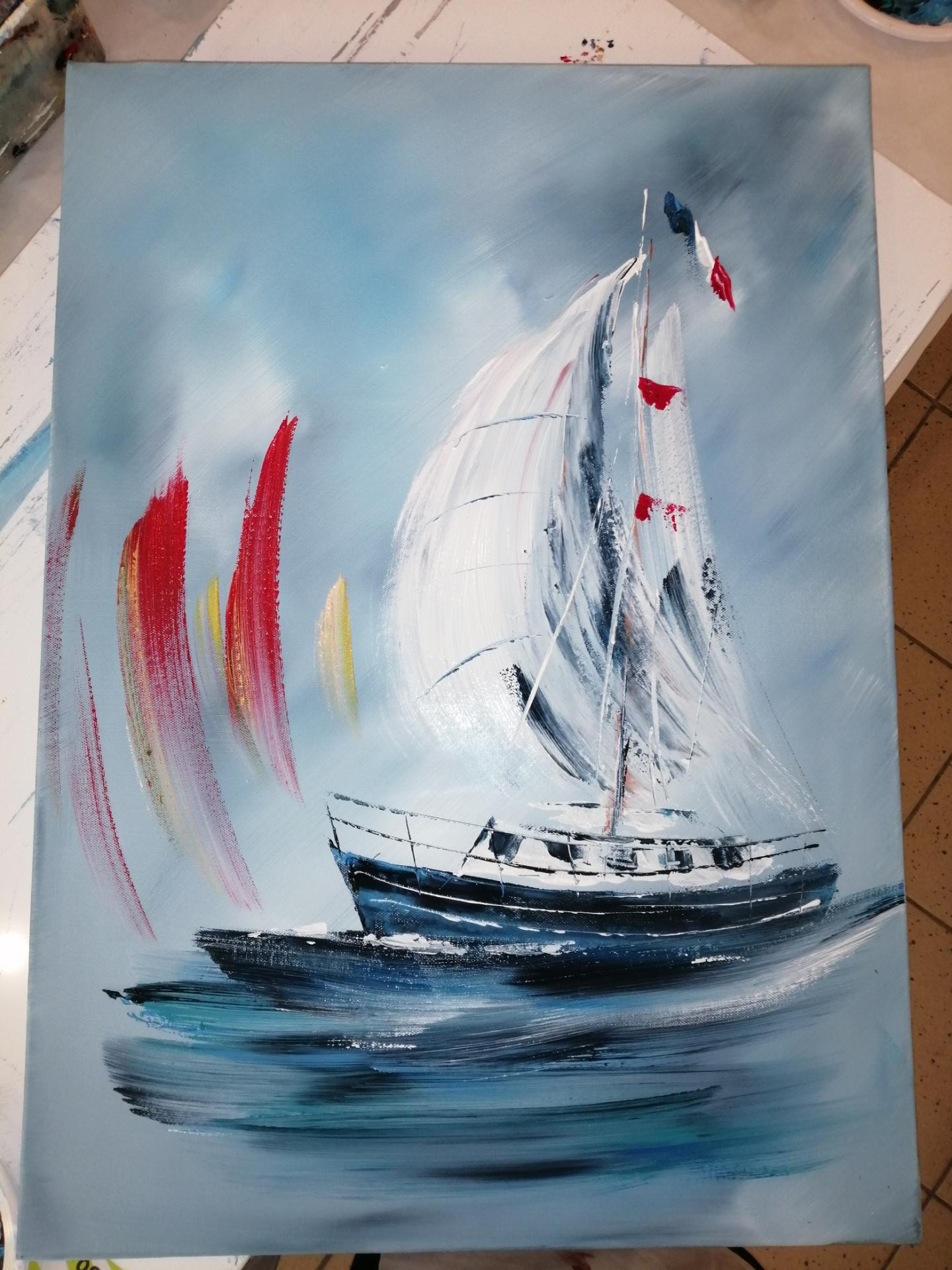 Le voilier en mer