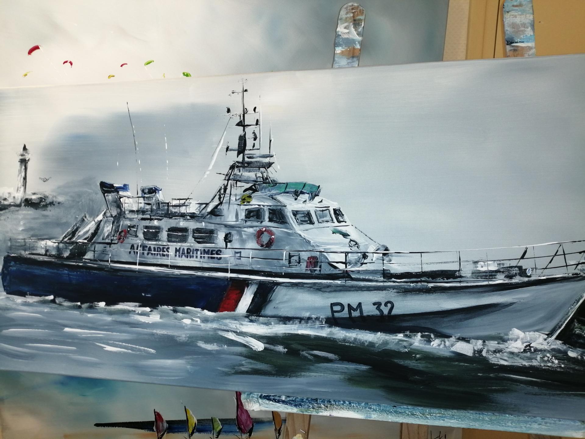 le bateau des affaires maritimes de Boulogne sur mer