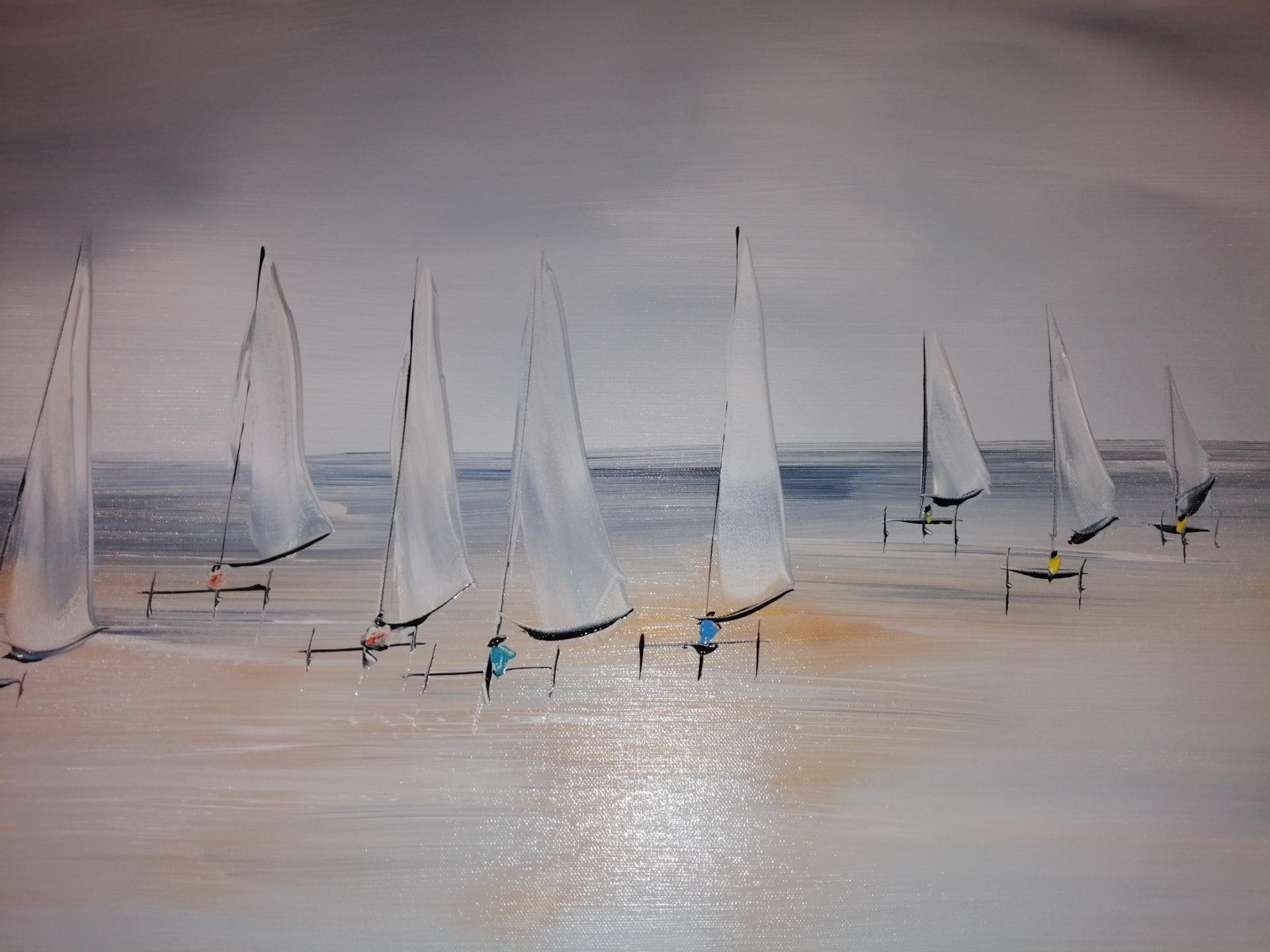 Les chars à voile sur la plage du Touquet