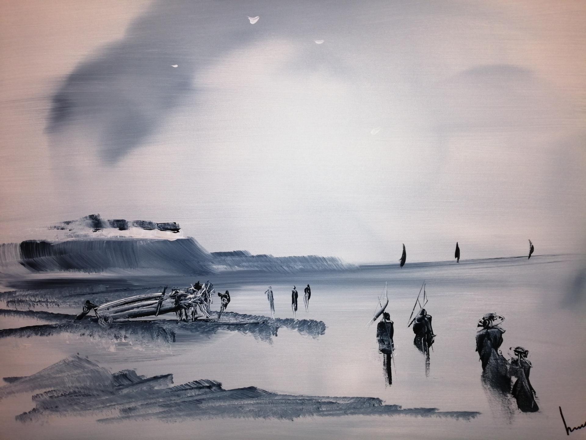 Sur la plage d'Audresselles