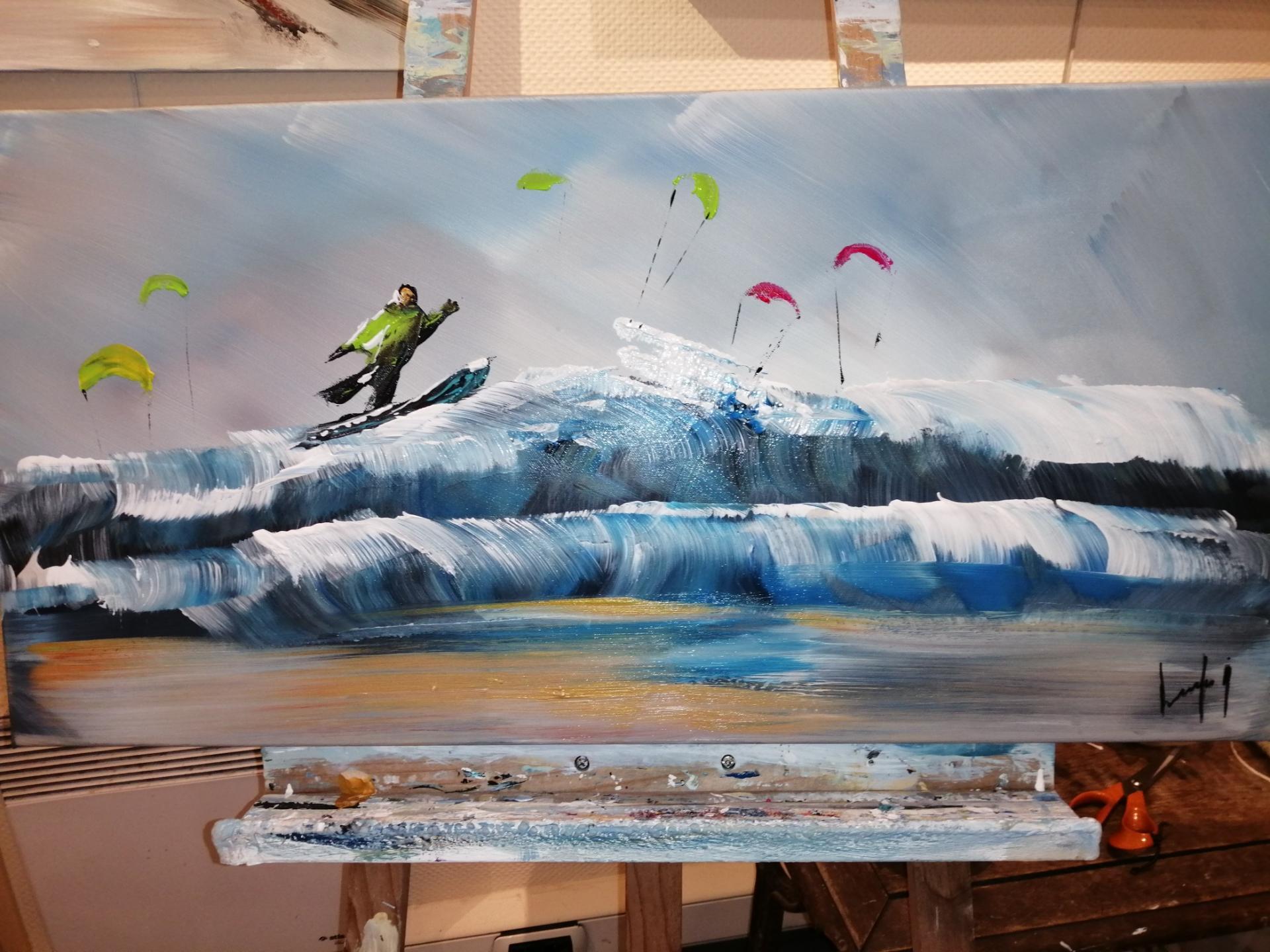 PARTIE DE SURF A WIMEREUX