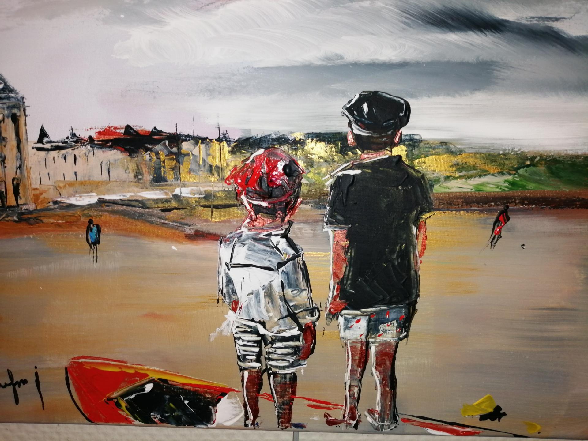 deux enfants sur la plage de wimereux