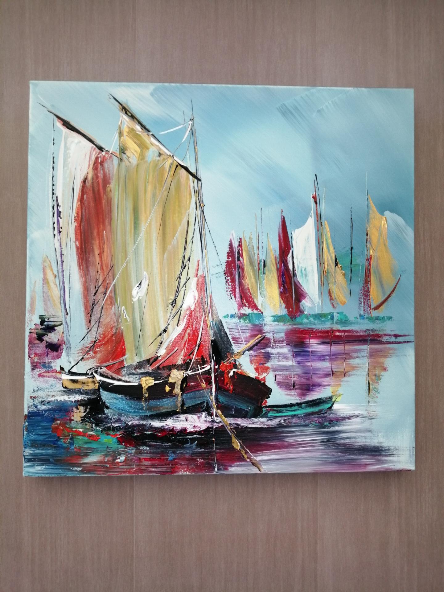 voilier au port au 19 ème siecle
