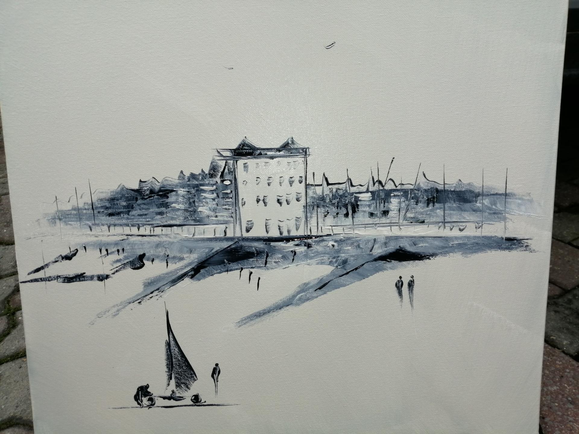 la digue de wimereux vue de la plage