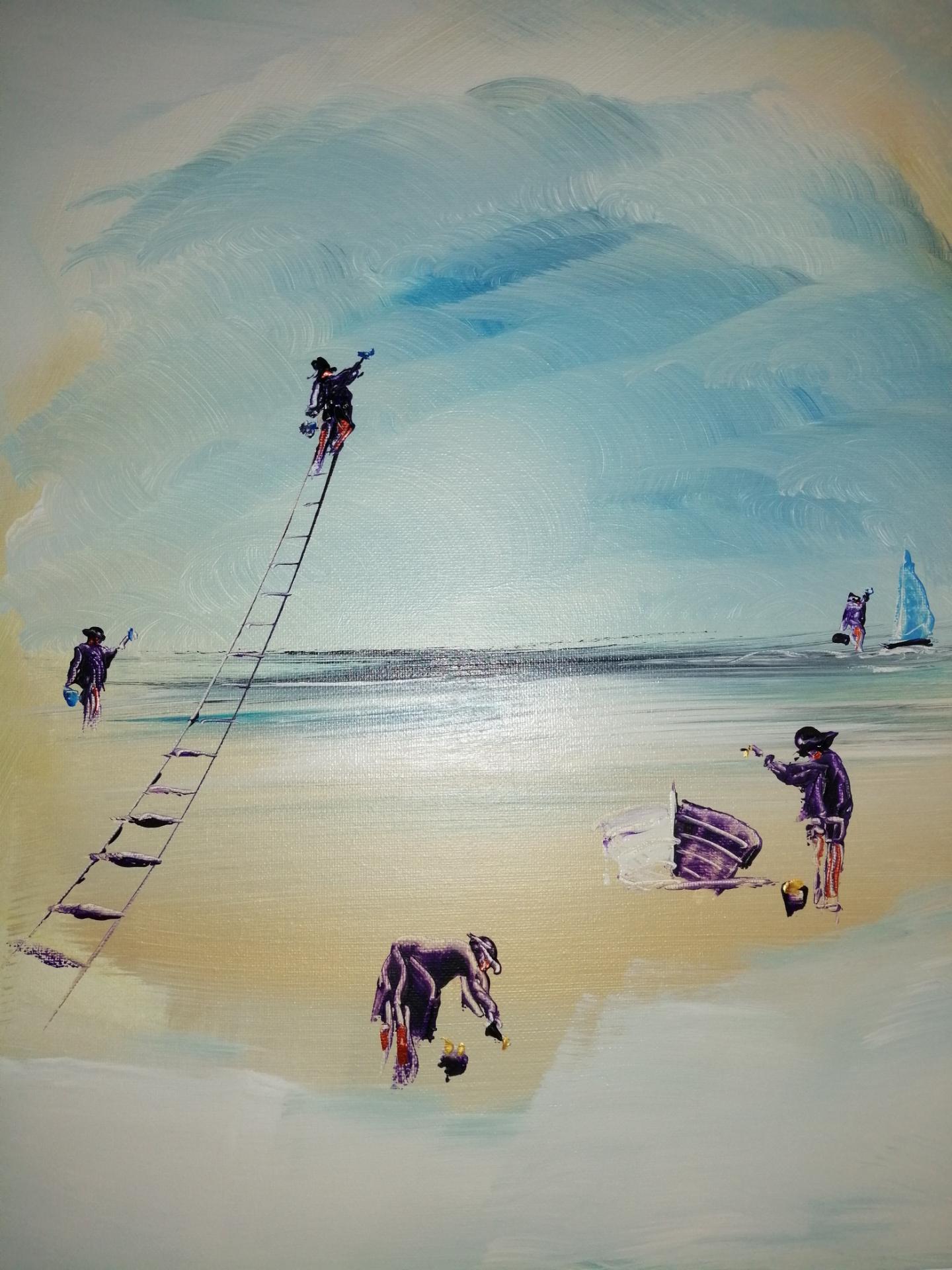 les peintres hugues peignent le tableau