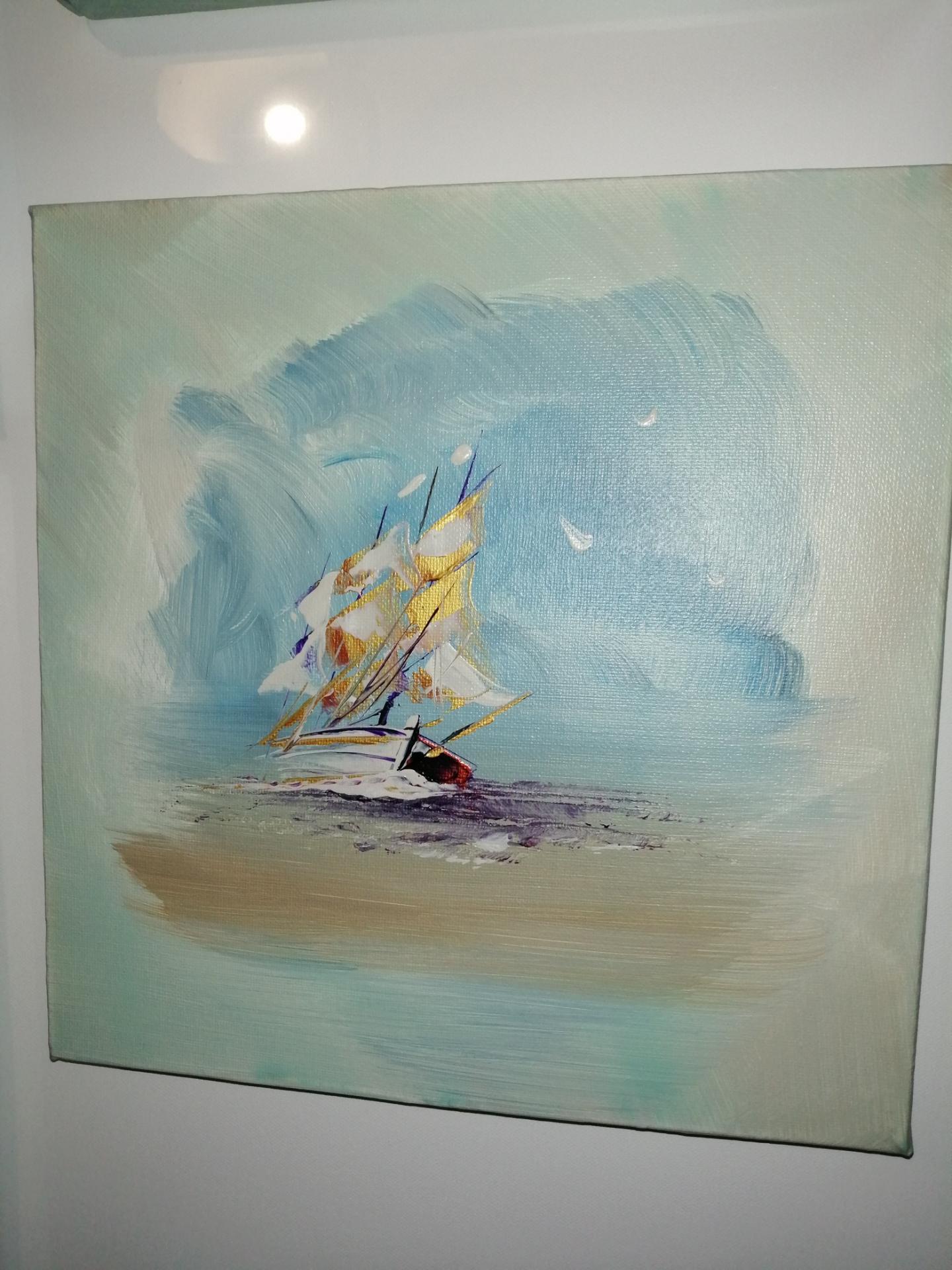 le voilier 3 mats en pleine mer