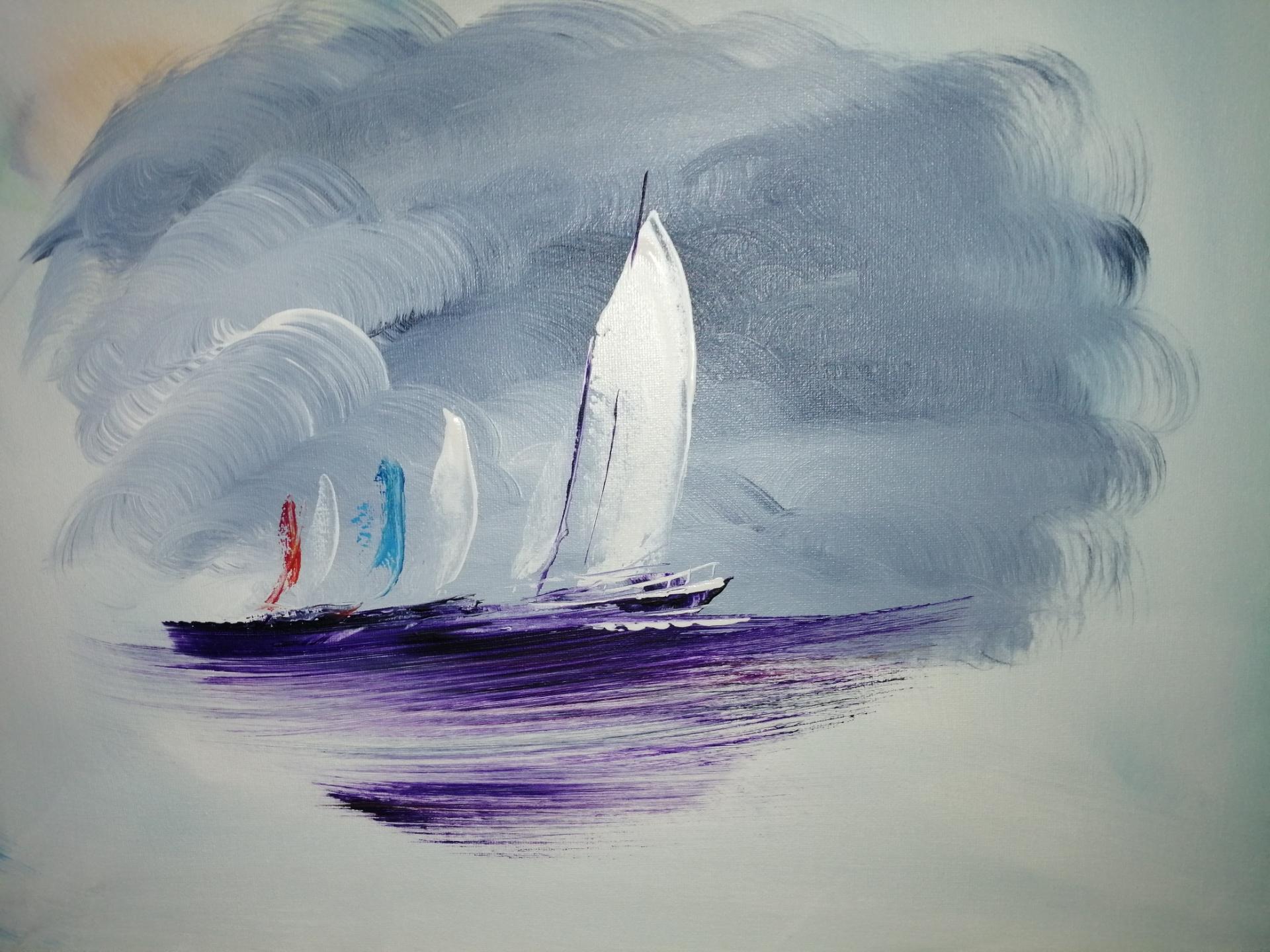 voiliers en mer du Nord