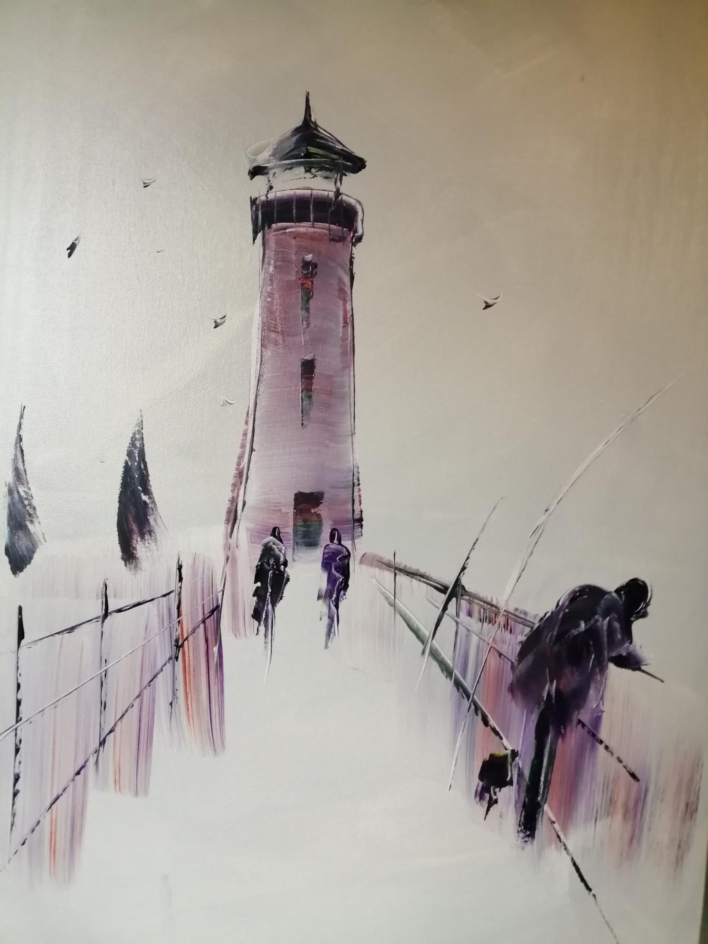la digue de Boulogne sur mer TABLEAU qui a été gagné sur FACE BOOK