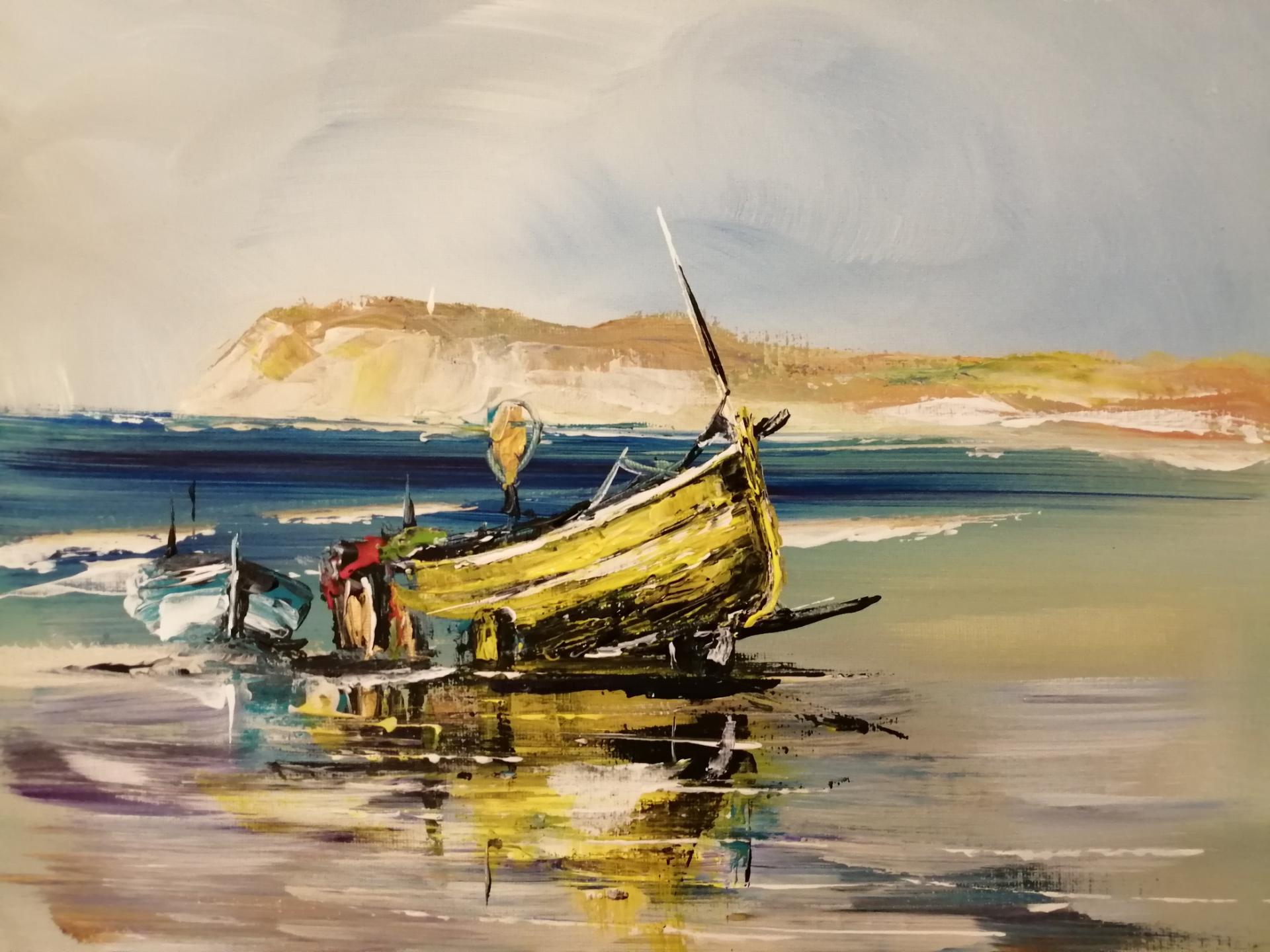 le flobart jaune sur la plage de Wissant