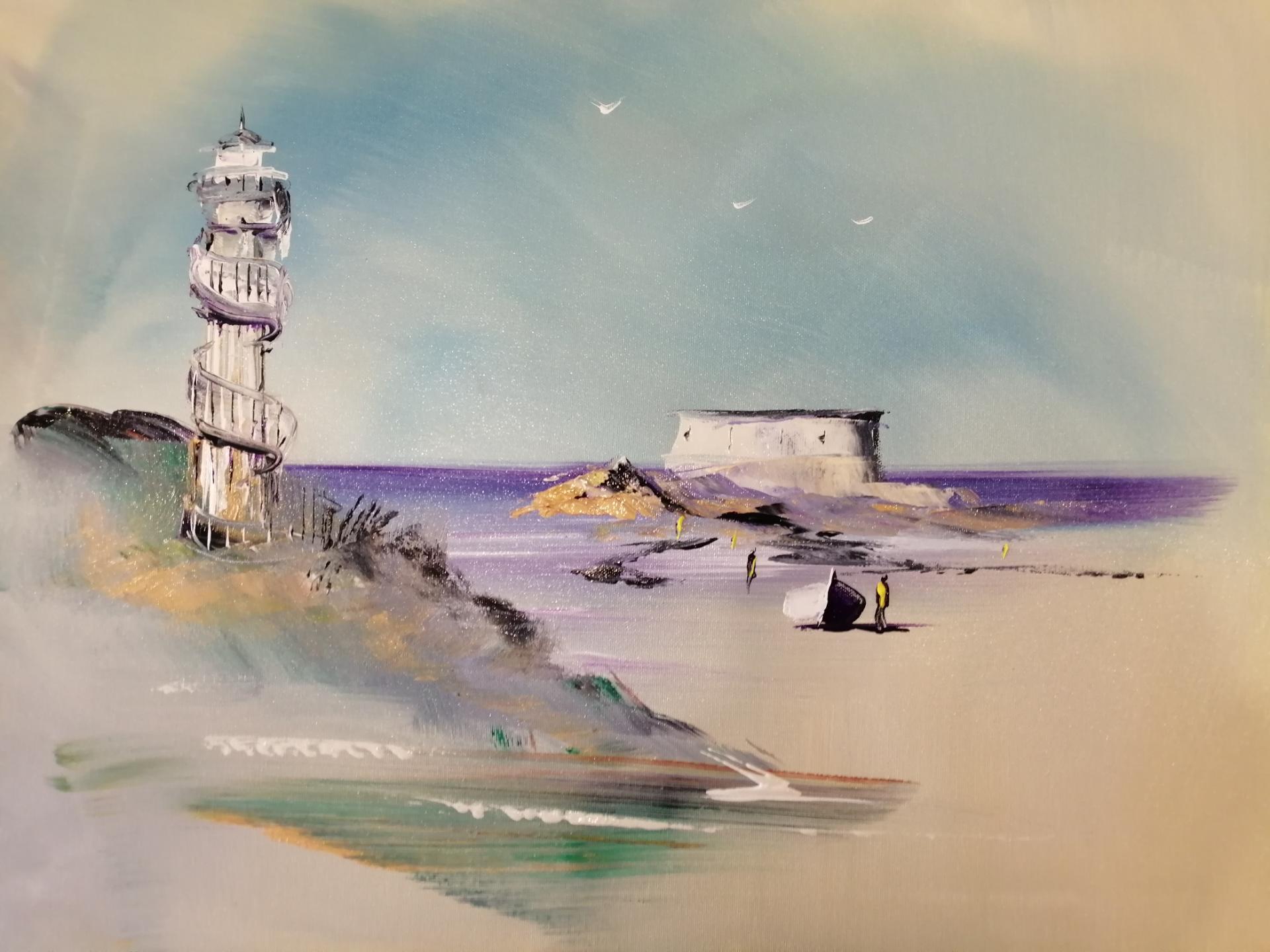 le phare d'alprech et le fort de l'heur au Portel