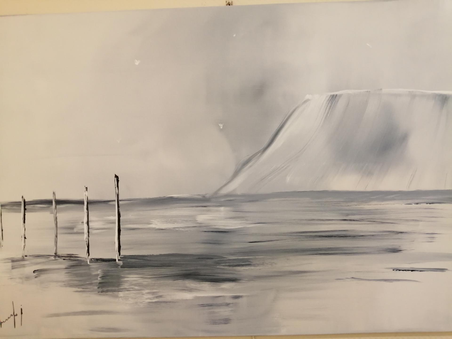 les poteaux sur la plage de Wissant face au cap blanc nez