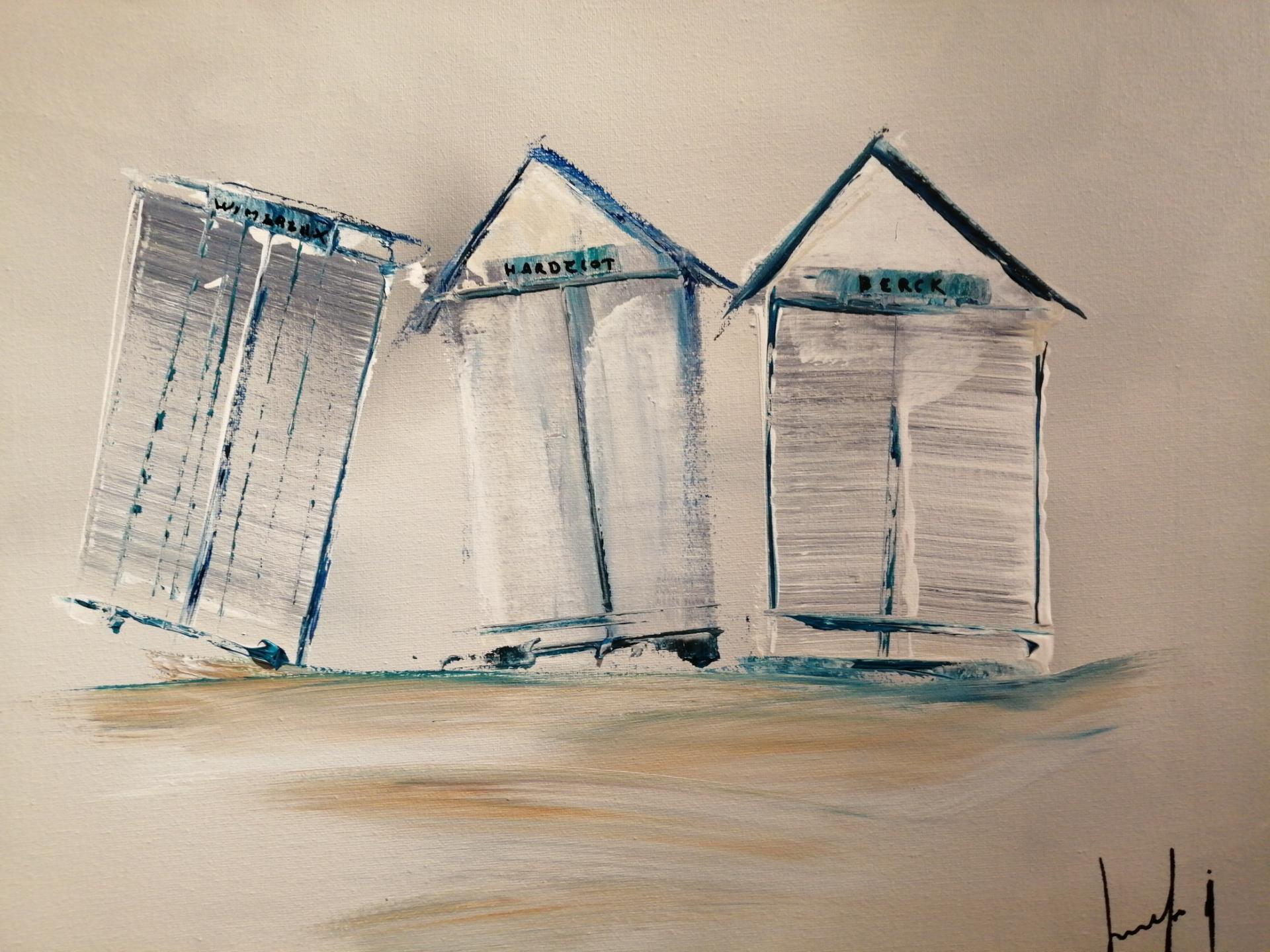 les cabines de plage de wimereux, hardelot et berck
