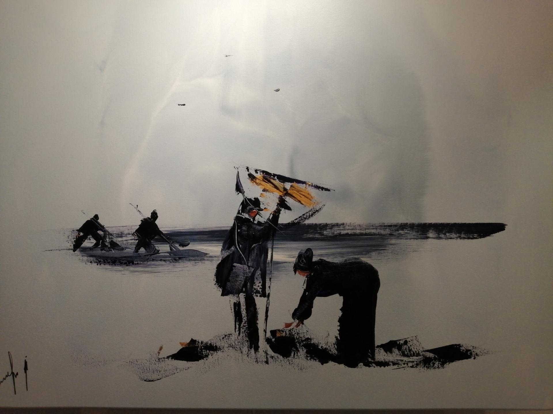 les pêcheurs et les pêcheuses de crevettes dans le nord de la france