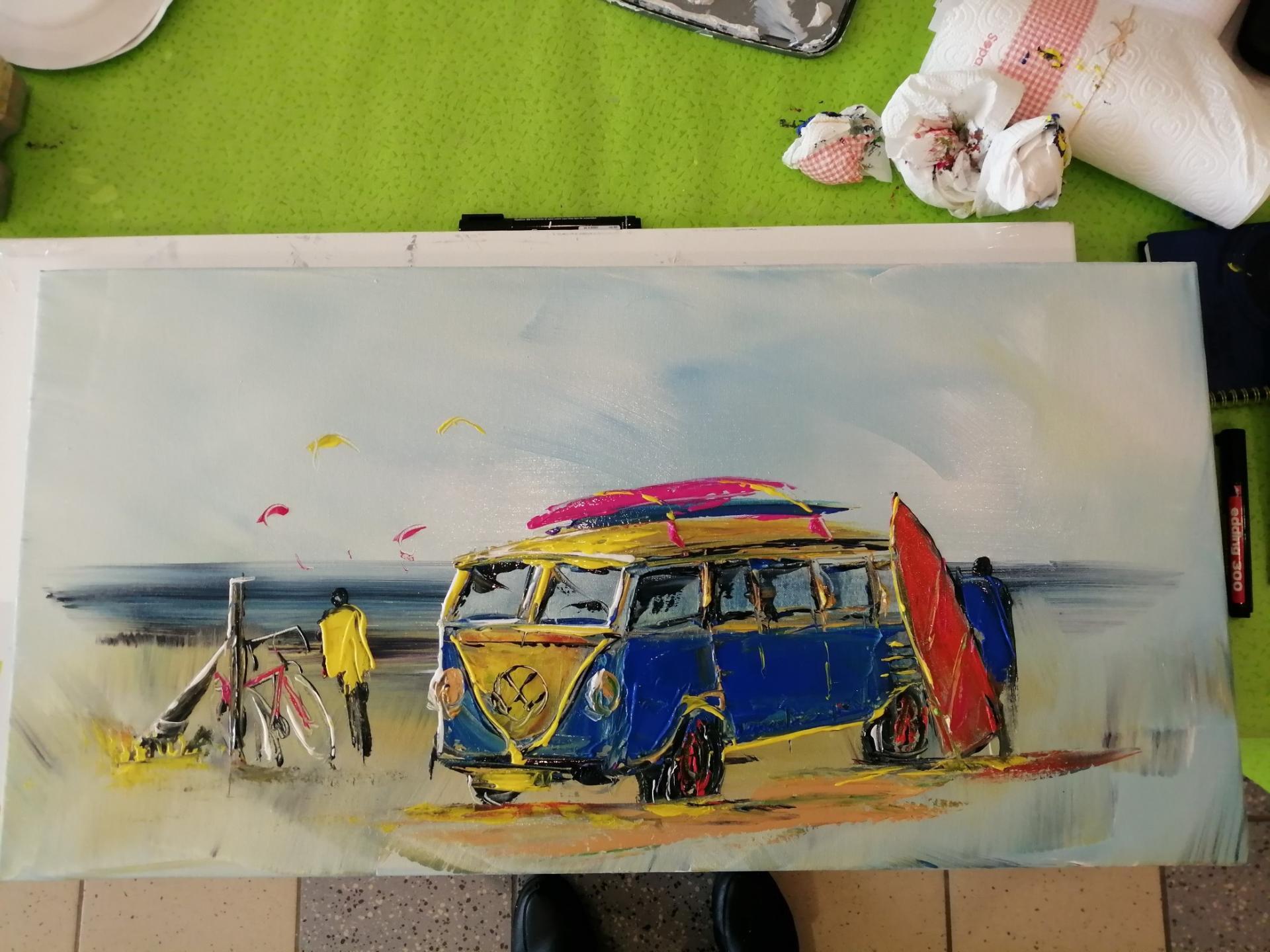 le combi bleu et jaune