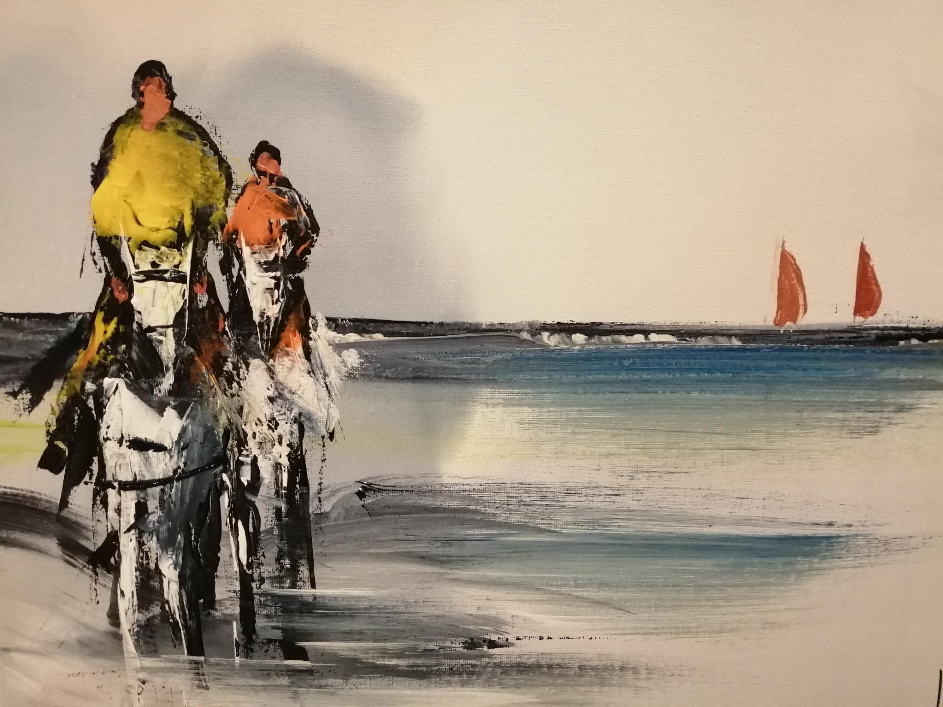 une balade à cheval sur la plage de wimereux