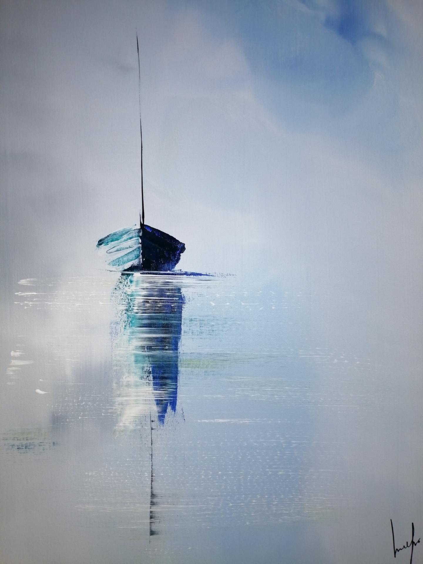 le bateau au calme