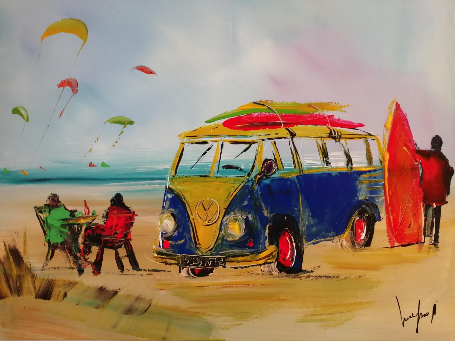 le combi VW sur la plage