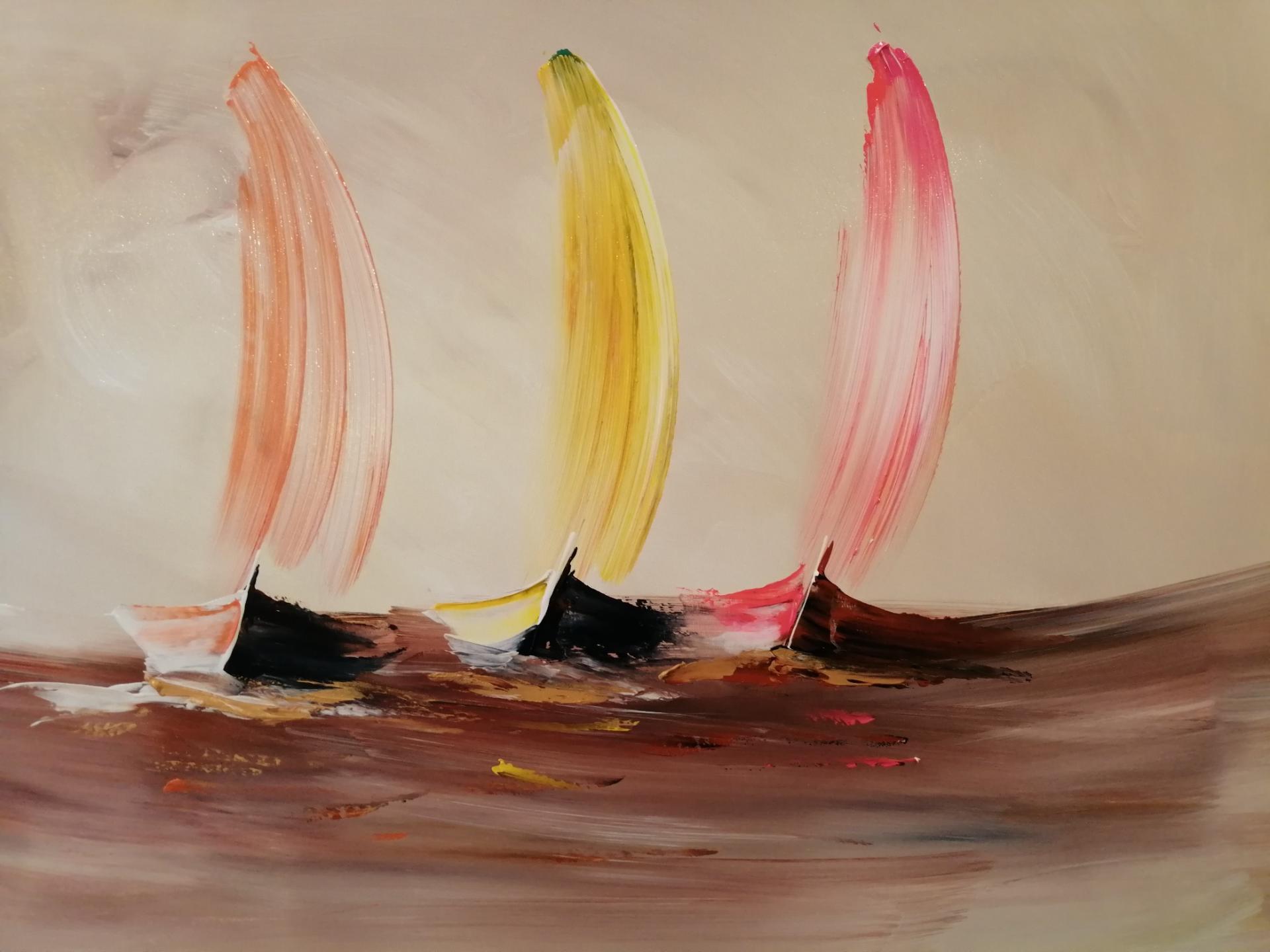 les voiliers en mer