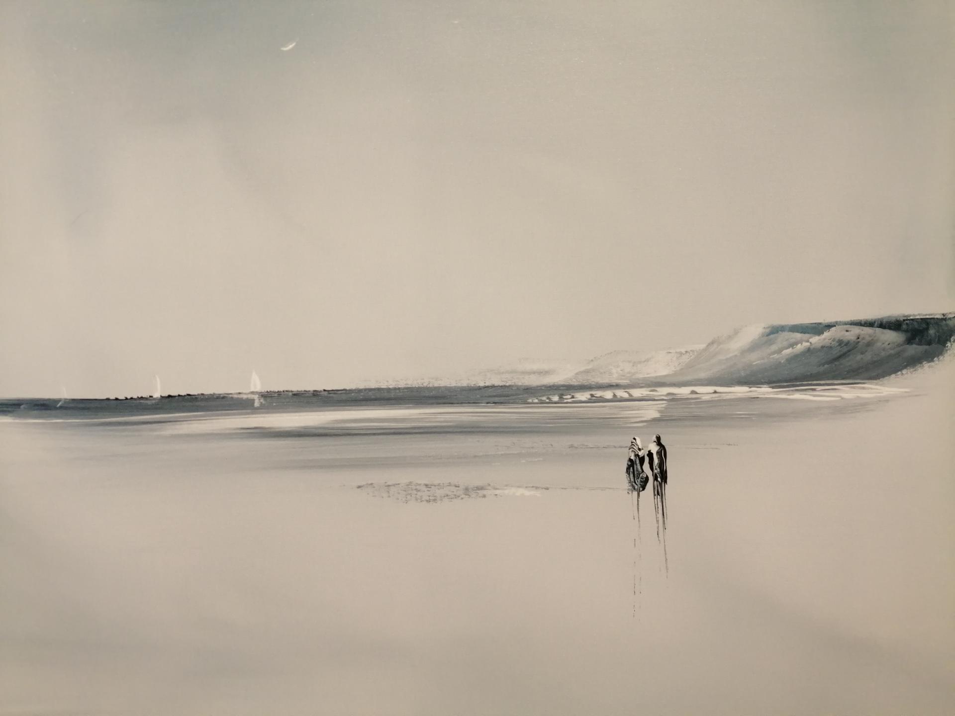 le couple sur la plage de wimereux