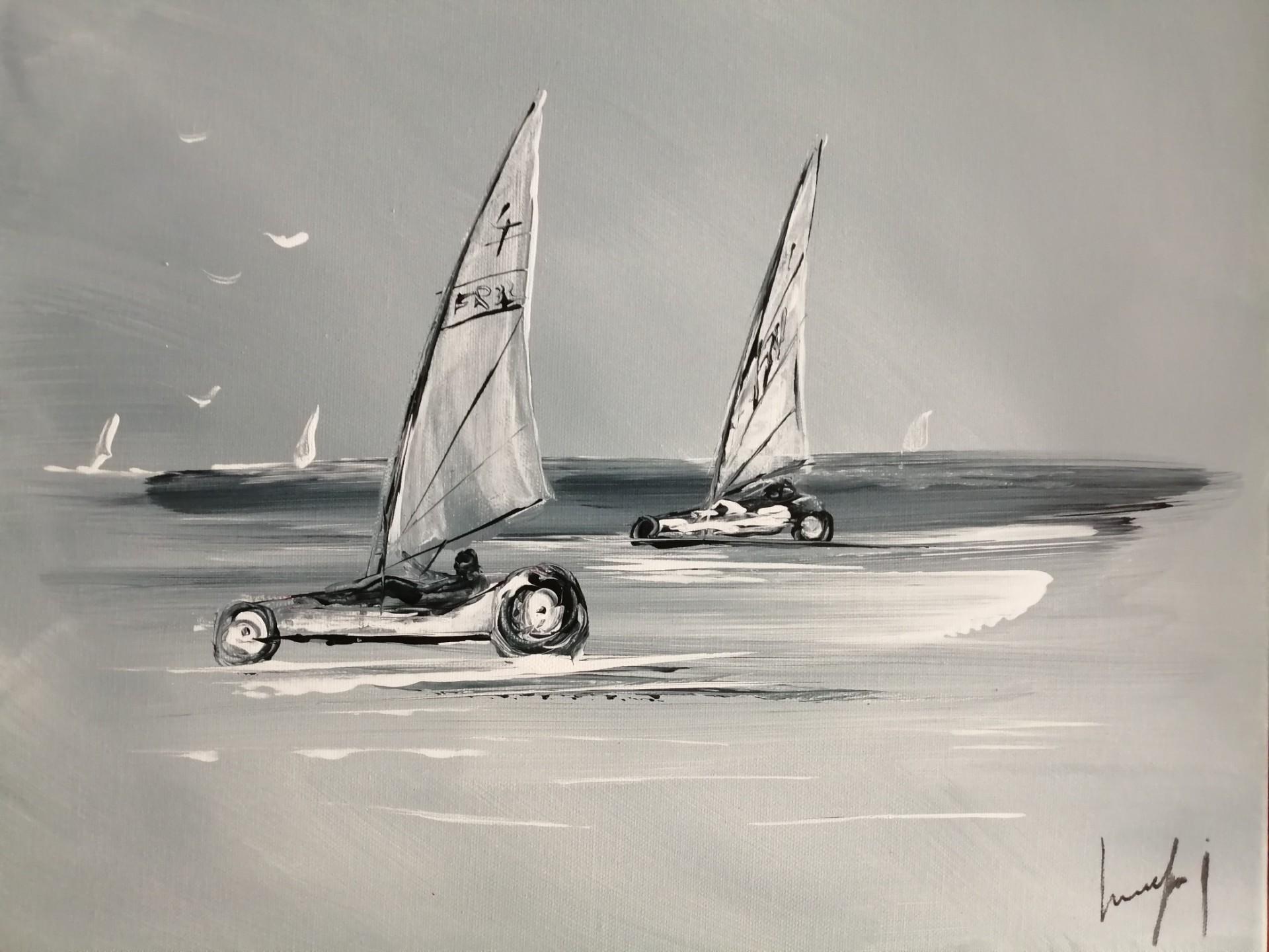 balade en char à voile sur la côte d'Opâle tableau à gagner cette semaine