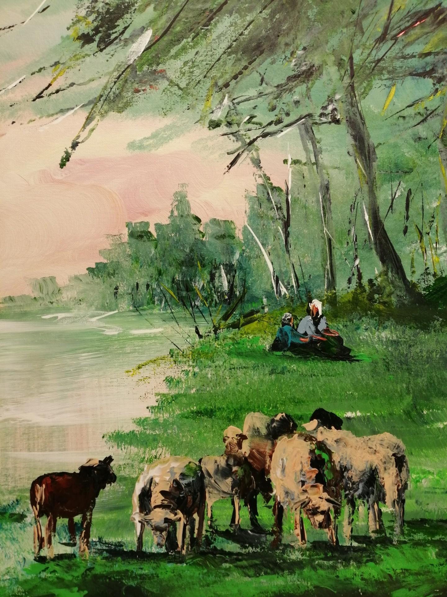 à la campagne au bord du lac d' Ardres