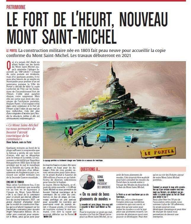 UN GRAND PROJET AU PORTEL : la transformation du fort de l'heur en Mont ST Michel