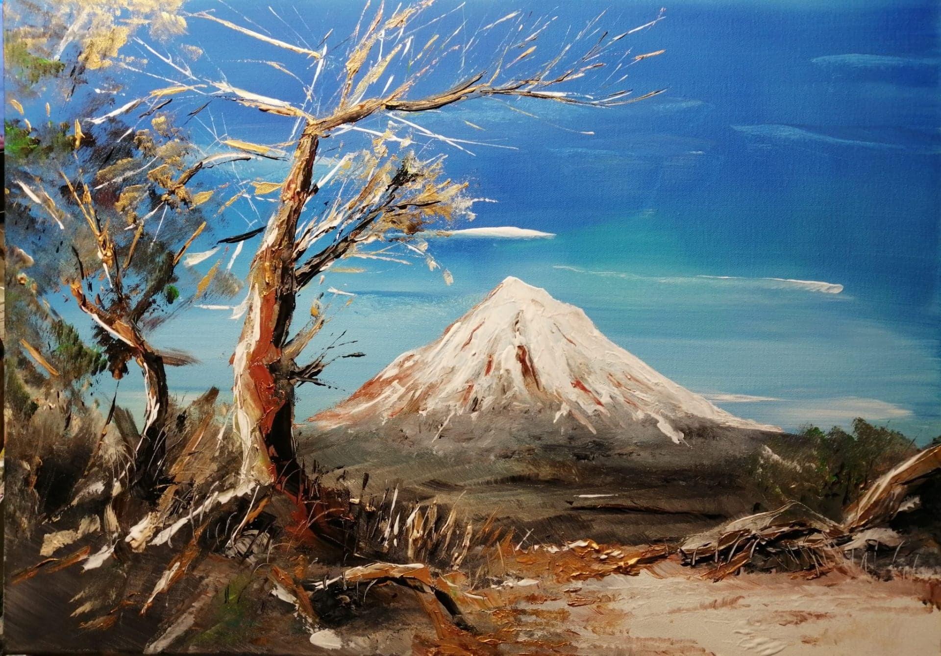 Mont shasta en californie 50 x 70 cm